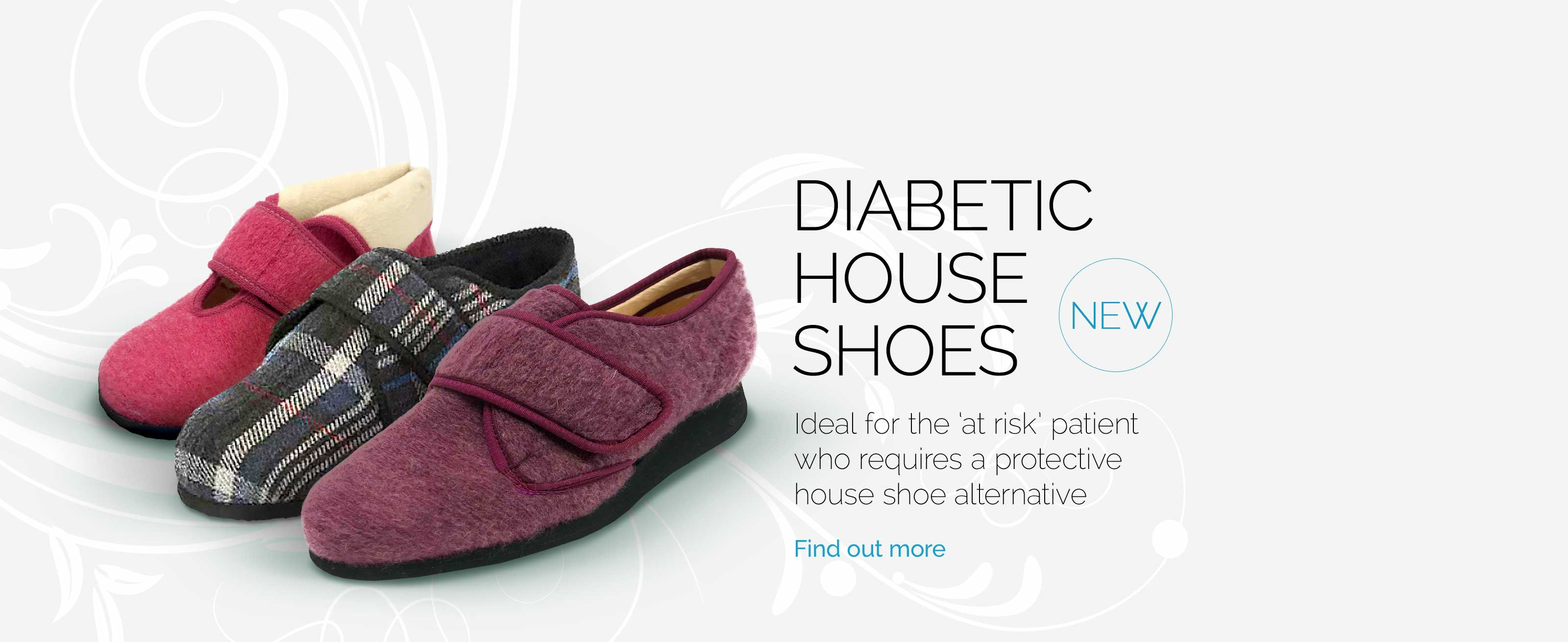 Diabetic house shoes
