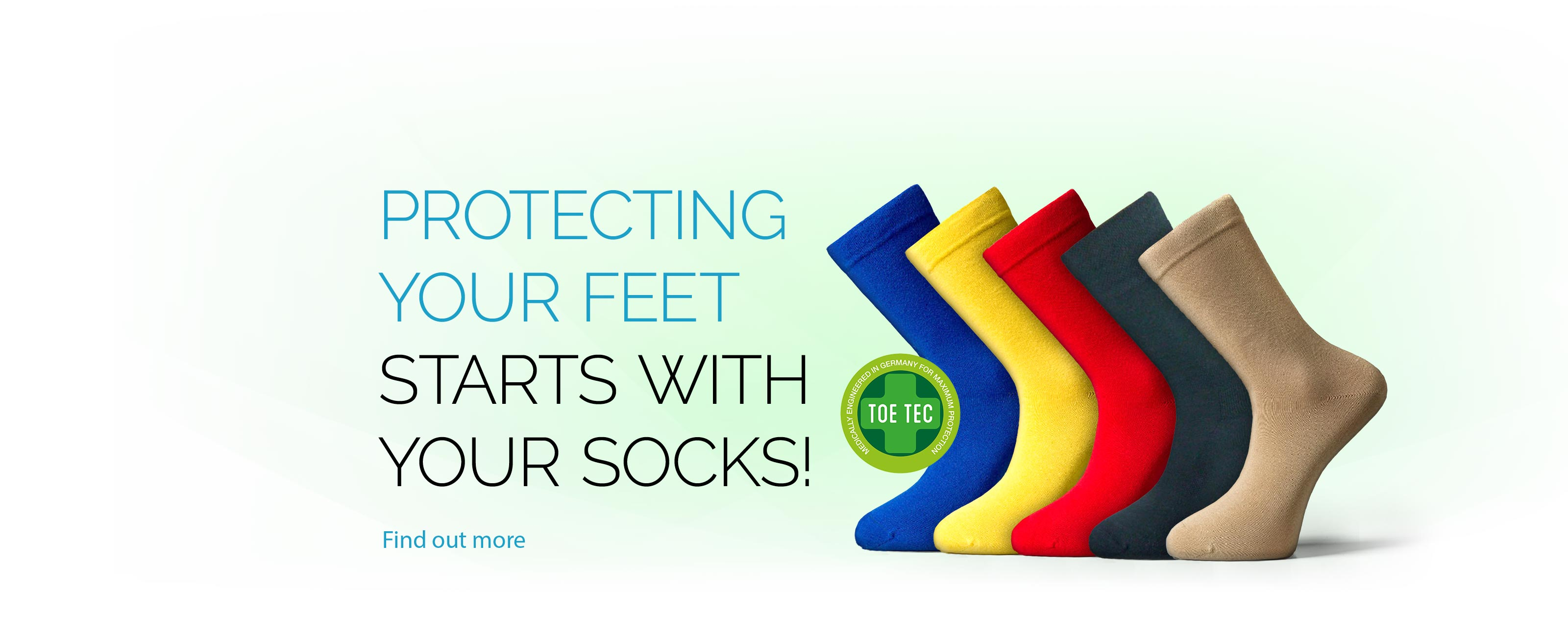 Protecting your feet starts with your socks!
